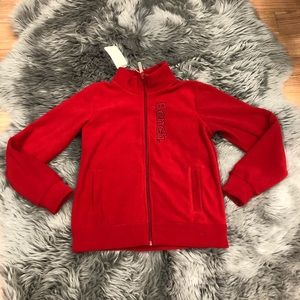 Bench | Boys' Red Zip Up Sweater | Size 11/12